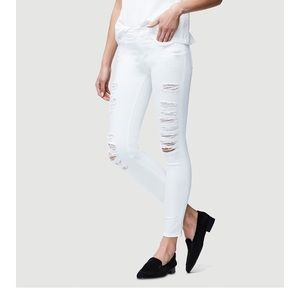 FRAME white skinny jeans with rips(24)